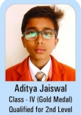 Aditya-Jaiswal-Class-IV-Gold-Madel-Qualified-for-2nd-Level