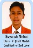 Divyansh-Nishad-Class-VI-Gold-Madel-Qualified-for-2nd-Level