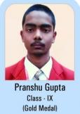 Pranshu-Gupta-Class-IX-Gold-Madel